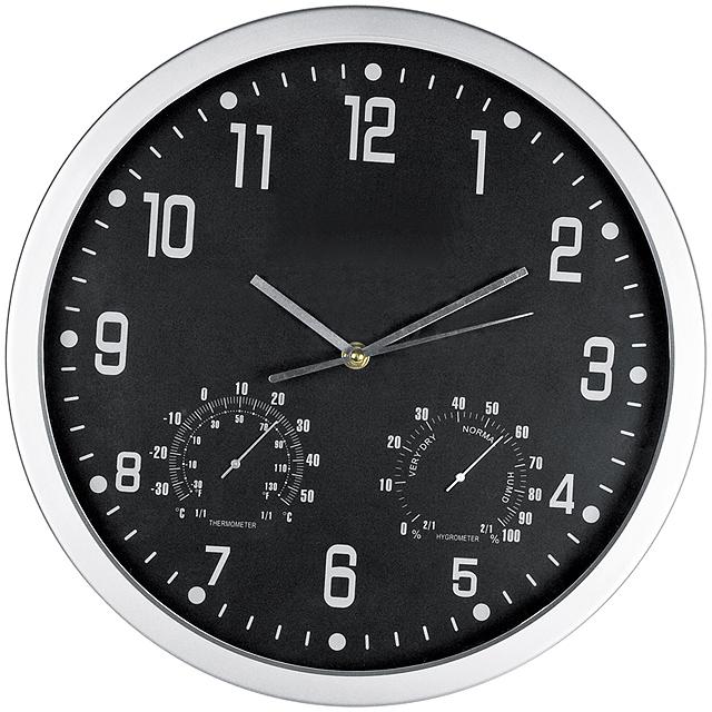 Štýlové nástenné hodiny - čierna