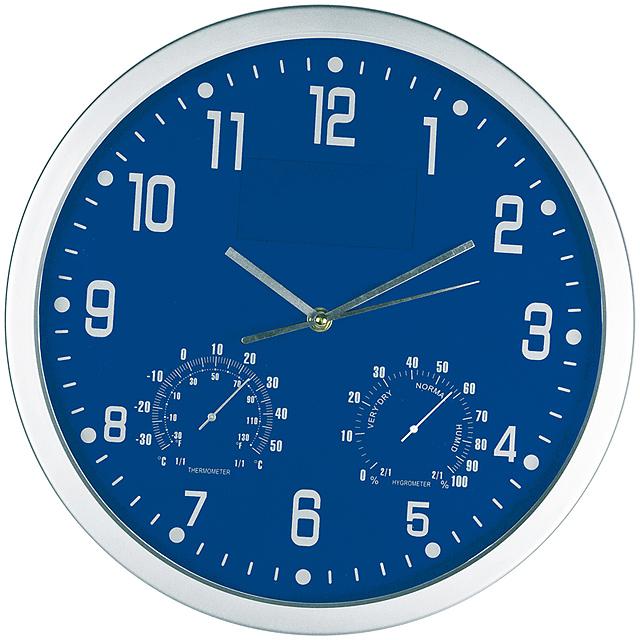 Štýlové nástenné hodiny - modrá