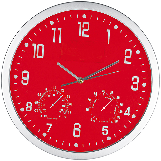 Štýlové nástenné hodiny - červená