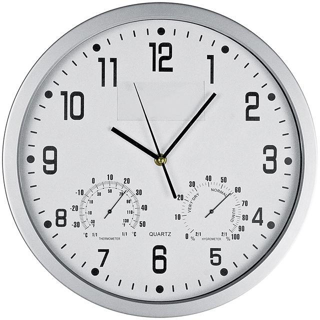 Štýlové nástenné hodiny - biela