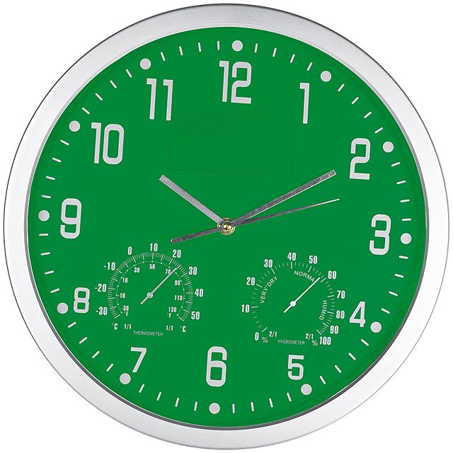 Štýlové nástenné hodiny - zelená