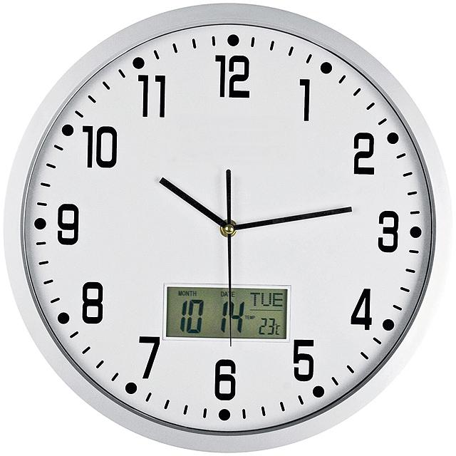 Nástenné hodiny - biela