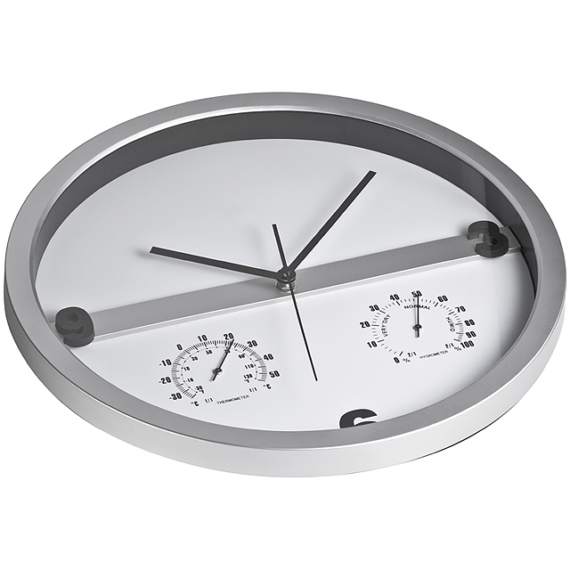 Wall clock, half display printable - grey