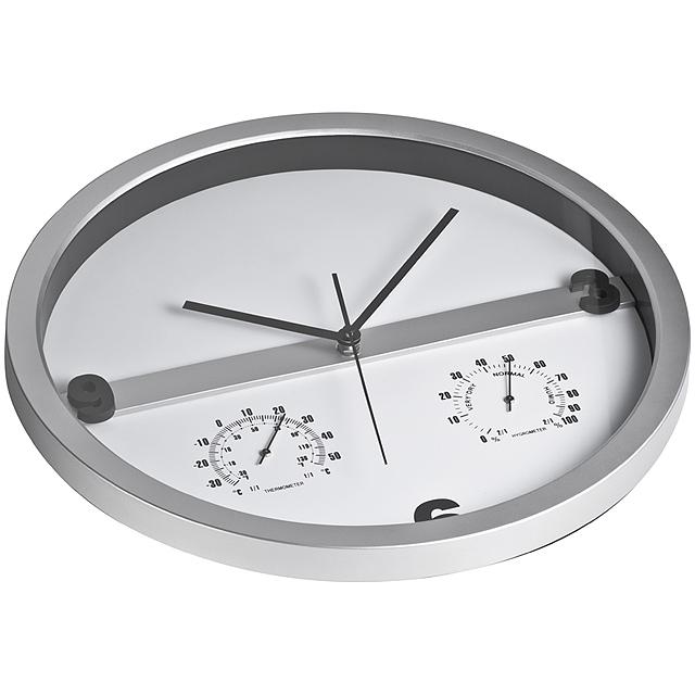 Nástenné hodiny - šedá