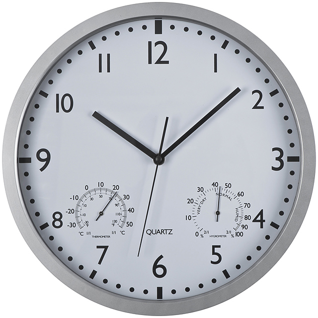 Wall clock, white display - white