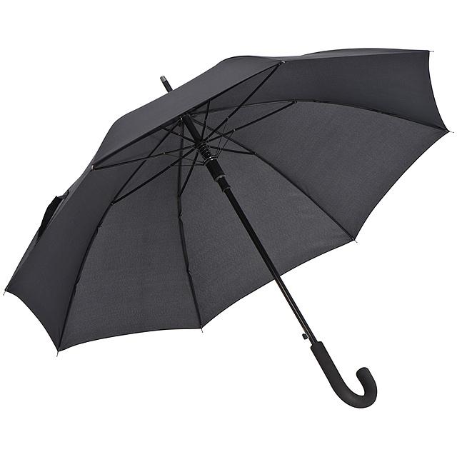 Deštník s hliníkovou hřídelí - černá