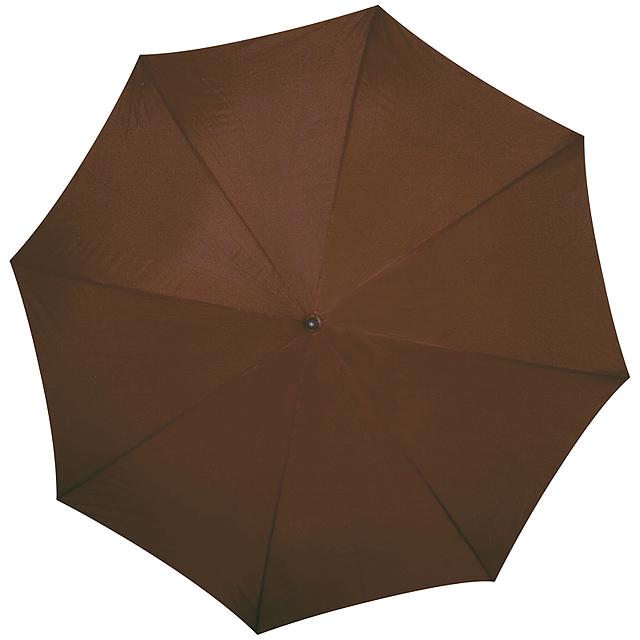 Deštník s dřevěným držadlem - hnědá