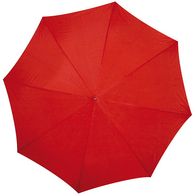 Deštník s dřevěným držadlem - červená