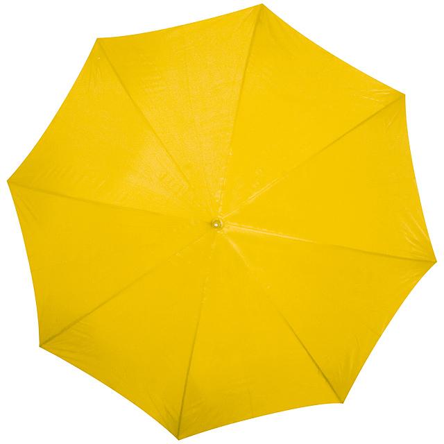 Deštník s dřevěným držadlem - žlutá