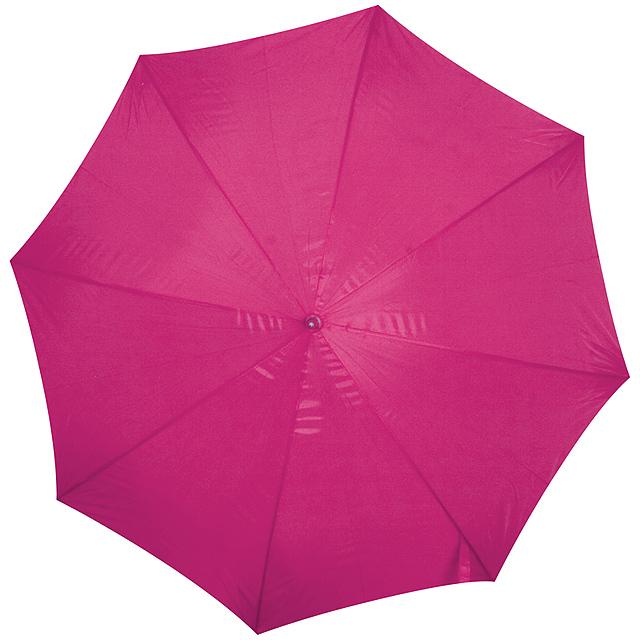 Deštník s dřevěným držadlem - růžová