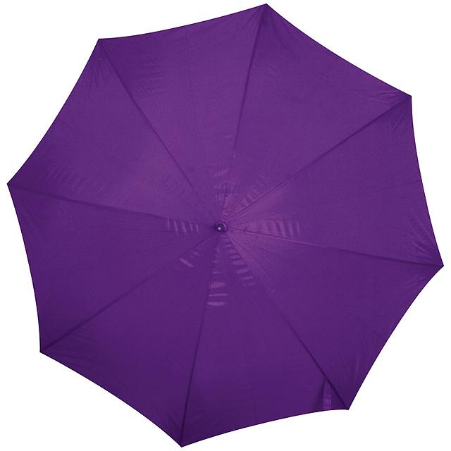 Deštník s dřevěným držadlem - fialová