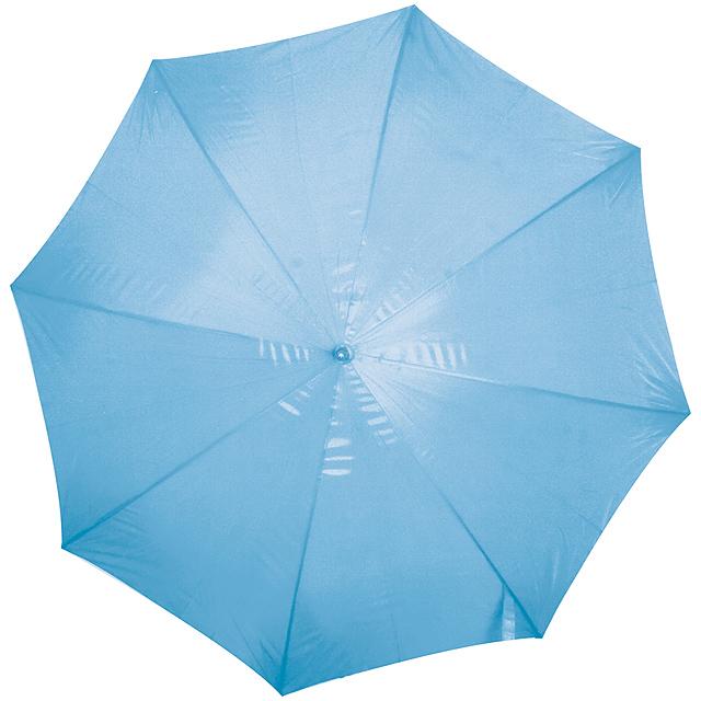 Deštník s dřevěným držadlem - nebesky modrá
