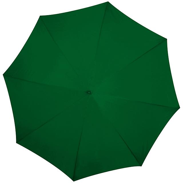 Deštník s dřevěným držadlem - zelená