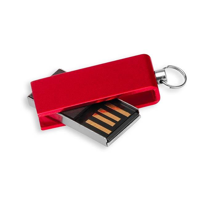USB FLASH 32 - hliníkový USB FLASH disk 4GB, rozhraní 2.0. - červená