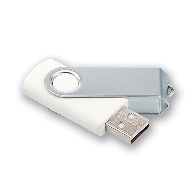 USB FLASH 22 - kovový USB FLASH disk 8GB s plastovým tělem, rozhraní 2.0. - černá