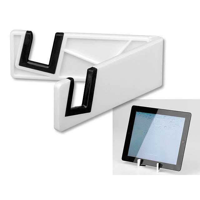 RAILY - plastový stojánek na mobil/tablet - bílá