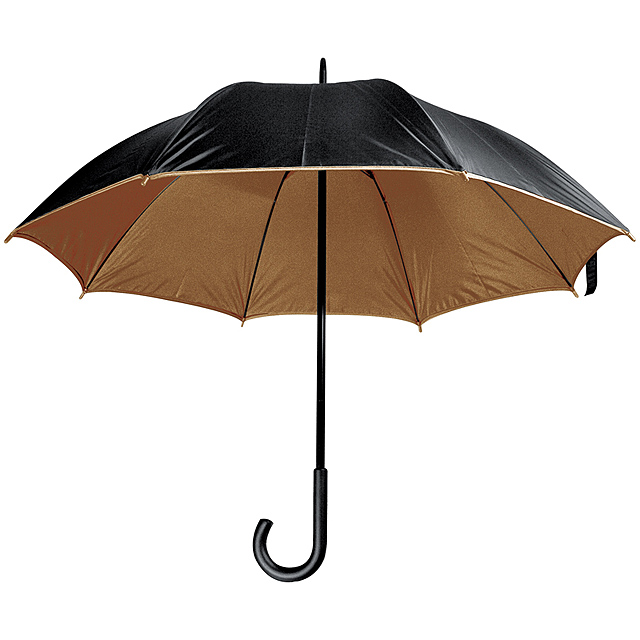 Deštník s plastovou rukojetí - hnědá