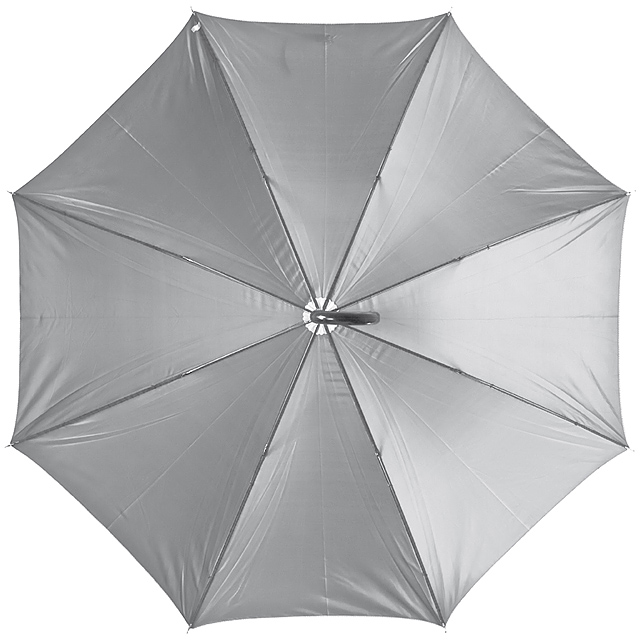 Deštník s plastovou rukojetí - šedá