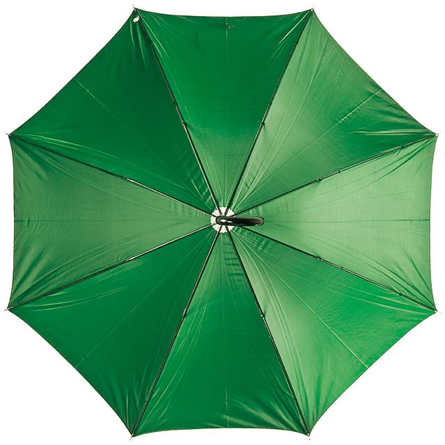 Deštník s plastovou rukojetí - zelená
