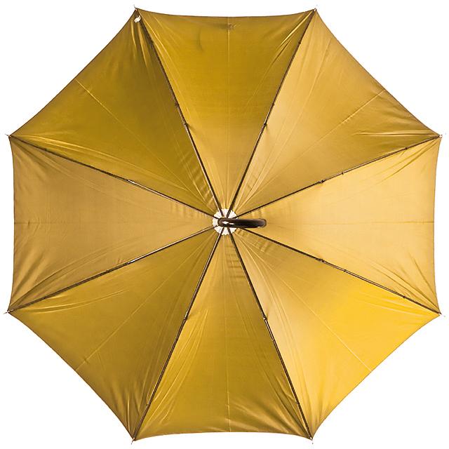 Deštník s plastovou rukojetí - zlatá