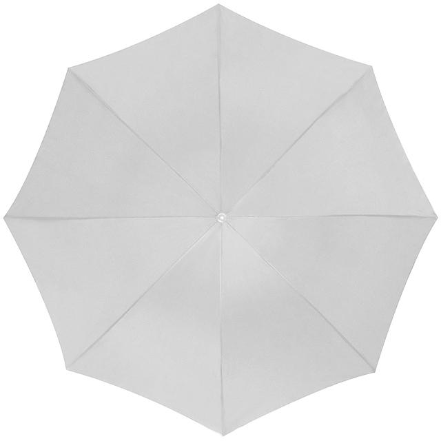 Deštník s plastovým držadlem - bílá
