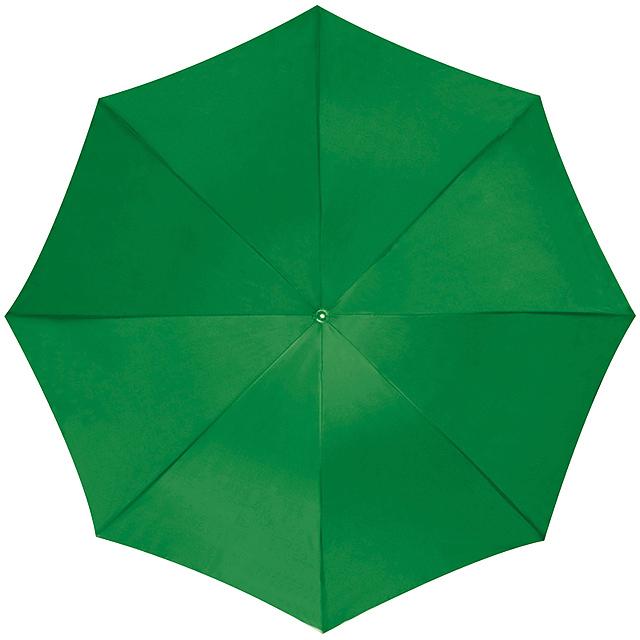 Deštník s plastovým držadlem - zelená