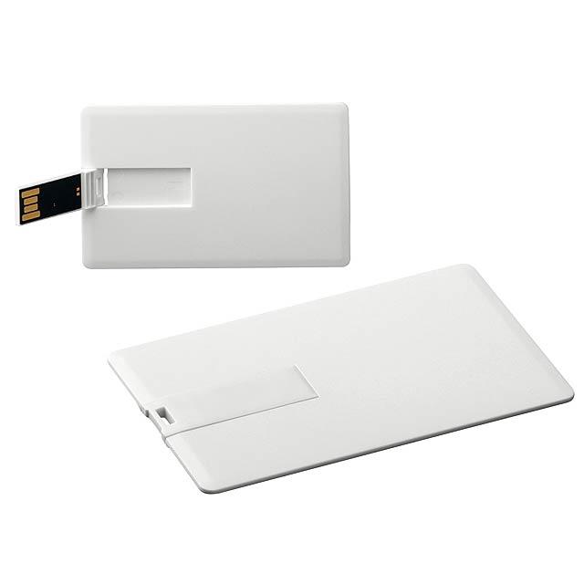 USB FLASH 42 - plastový USB FLASH disk 4GB, rozhraní 2.0. - bílá