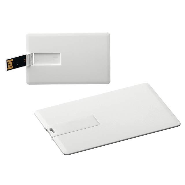 USB FLASH 42 - plastový USB FLASH disk 8GB, rozhraní 2.0. - bílá