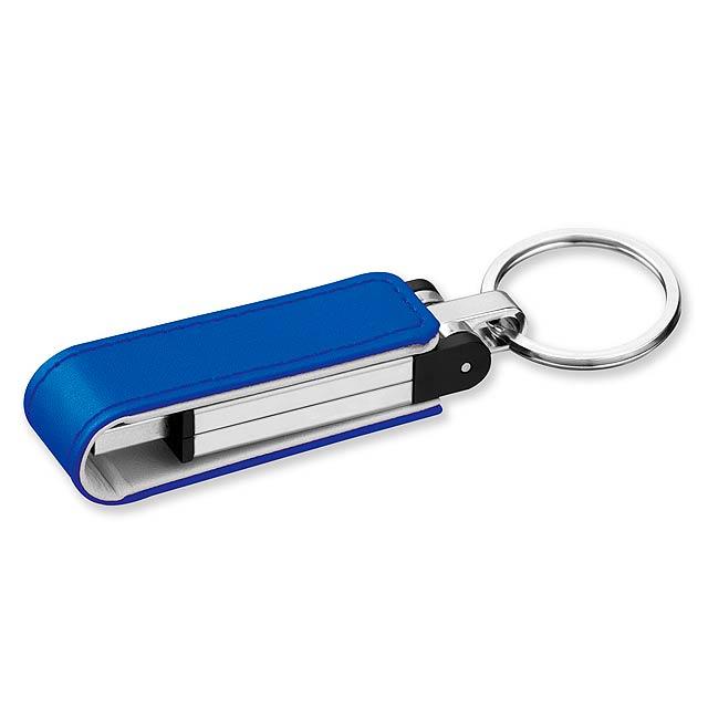 USB FLASH 46 - USB FLASH disk 4GB z kovu - modrá