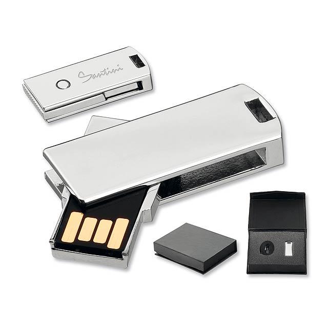 USB FLASH 41 - kovový USB FLASH disk 32GB, rozhraní 2.0., SANTINI - stříbrná