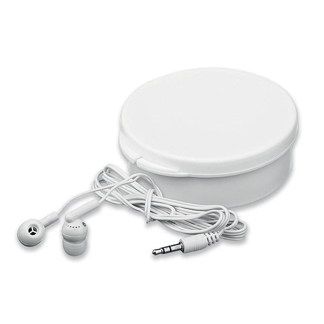 BUD - Plastic audio headphones in plastic case - white