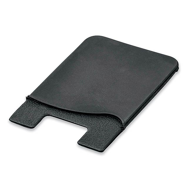 WASIL - Silicone self-adhesive case for credit cards and other ID cards. - black