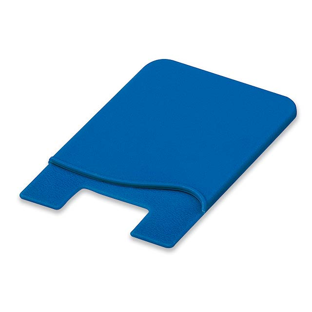 WASIL - Silicone self-adhesive case for credit cards and other ID cards. - blue