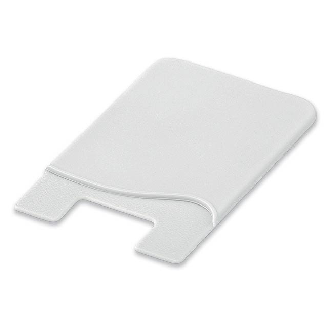 WASIL - Silicone self-adhesive case for credit cards and other ID cards. - white