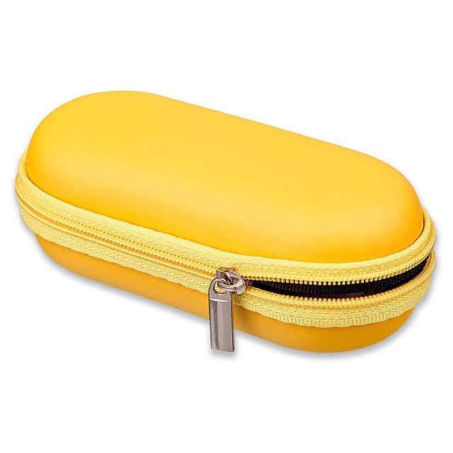 CASE I - pouzdro na IT doplňky, malé - žlutá