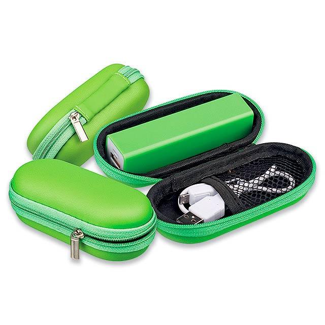 CASE I - pouzdro na IT doplňky, malé - zelená