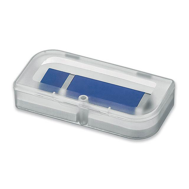 USB BOX II - Plastic box for USB stick with magnetic closure. - transparent