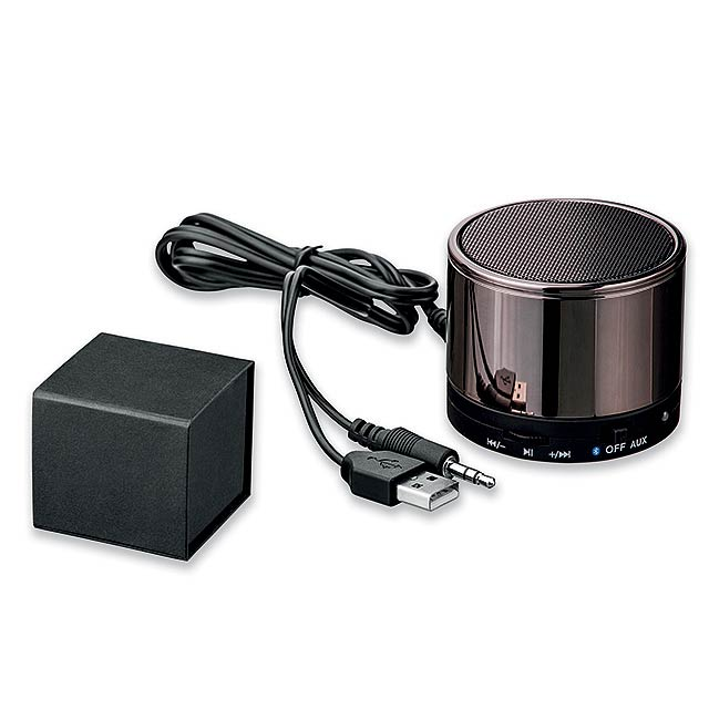 BEAT - kovový 4.0 bluetooth reproduktor 3W - šedá