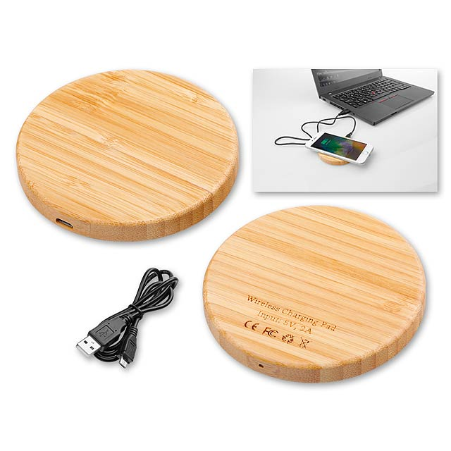 WOODER - bezdrátová dřevěná nabíječka - dřevo
