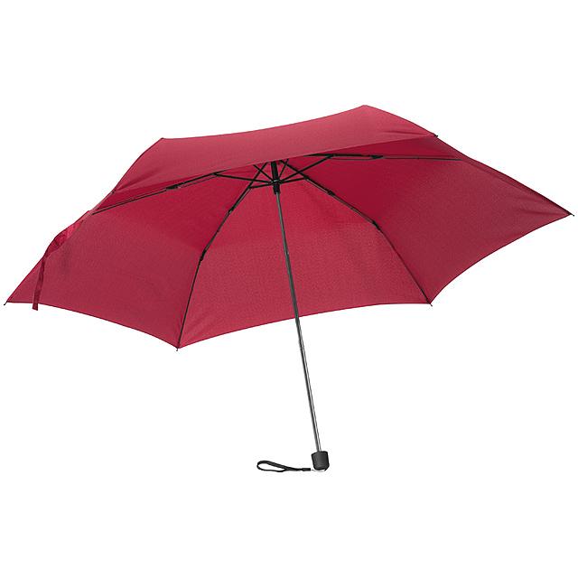 Mini skládací deštník - vínová