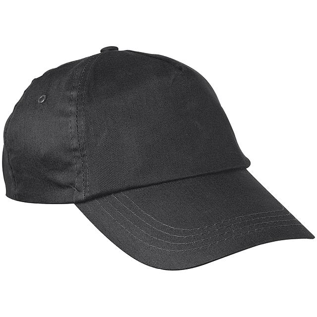 Bavlněná kšiltová čepice - černá