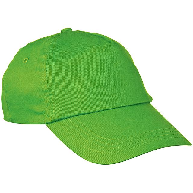 Bavlněná kšiltová čepice - citrónová - limetková