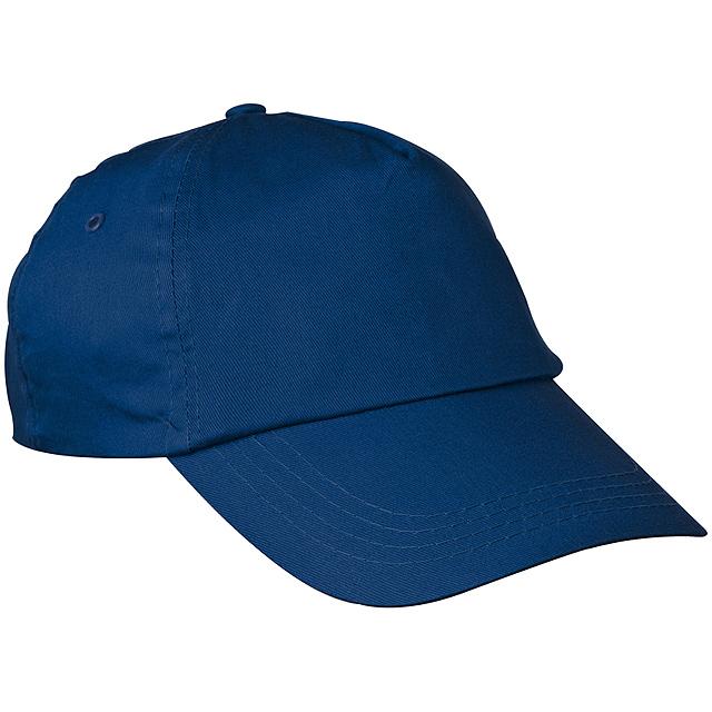 Bavlněná kšiltová čepice - modrá