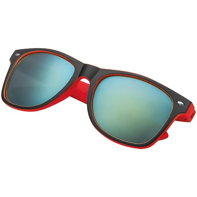 Dvojfarebné slnečné okuliare - červená 02f2119db29