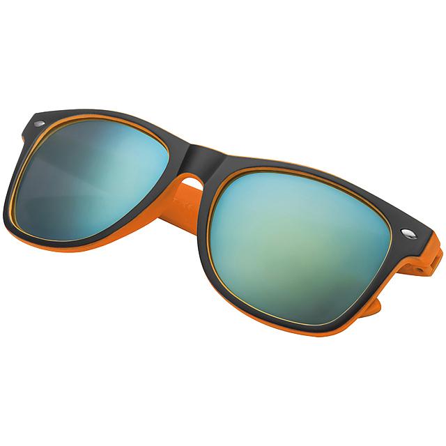 Dvoubarevné sluneční brýle - oranžová