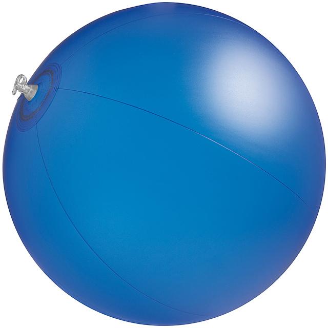 Jednobarevná plážový míč - modrá