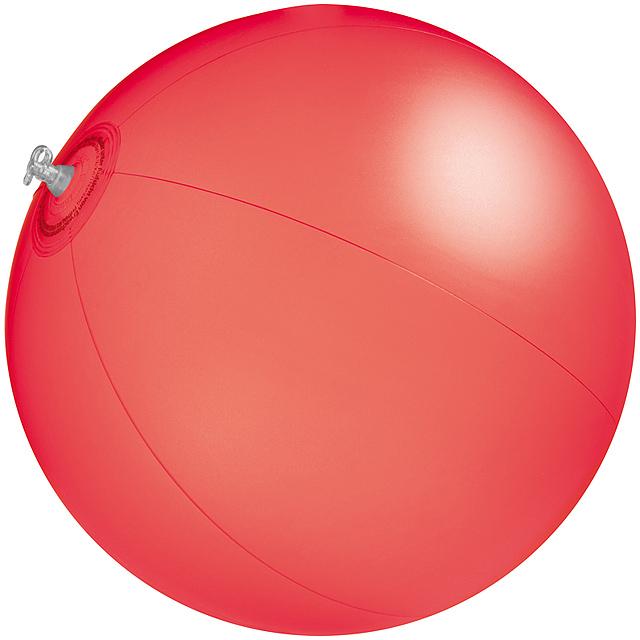 Jednobarevná plážový míč - červená