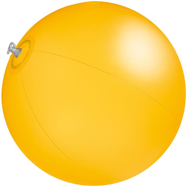 Jednobarevná plážový míč - žlutá