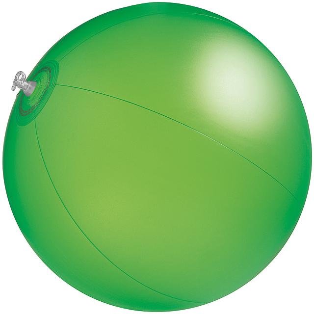 Jednobarevná plážový míč - zelená