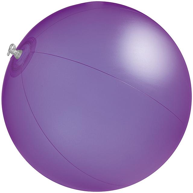 Jednobarevná plážový míč - fialová